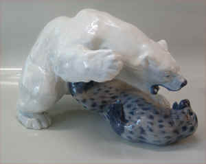kgl porcelæn isbjørn